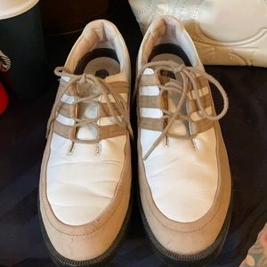 Men's SIZE 9 1/2 Adidas Leather and Suede Golf Shoes